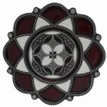 Red Celtic Flower Belt Buckle with display stand (MA3)